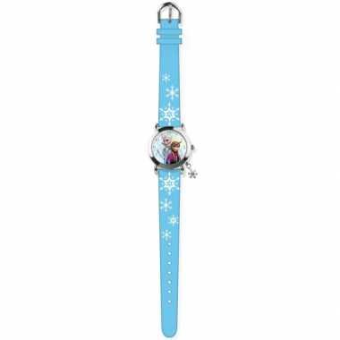 Goedkope blauw disney frozen analoog horloge meisjes