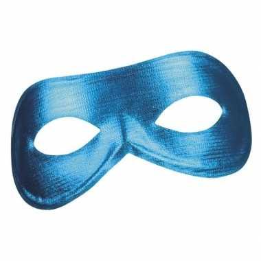 Goedkope blauw metallic oogmasker dames