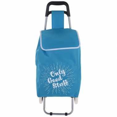 Goedkope blauwe boodschappen trolley only cool stuff