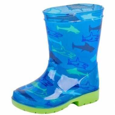 Goedkope blauwe kinder regenlaarzen haaien
