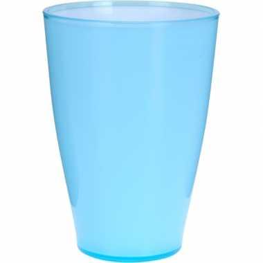 Goedkope blauwe kunststof drinkbeker