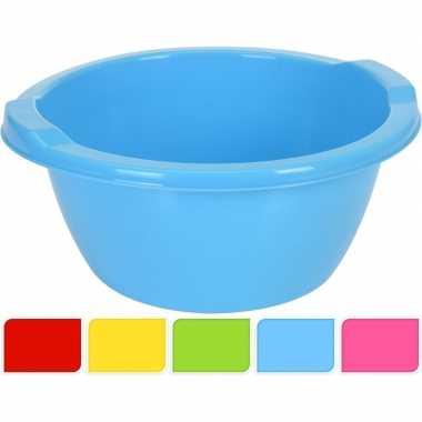 Goedkope blauwe ronde afwasteil , l