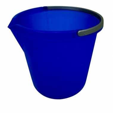 Goedkope blauwe schoonmaak emmer liter