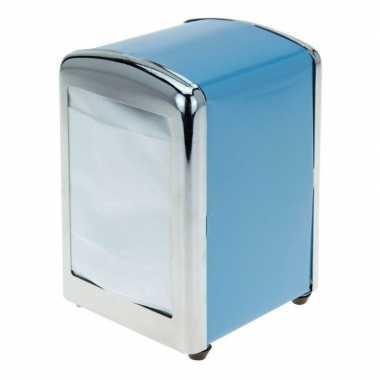 Goedkope blauwe servethouder/ servetten dispenser