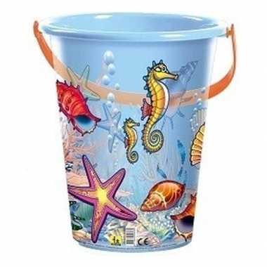 Goedkope blauwe speelgoed strandemmer schelpen/zeedieren
