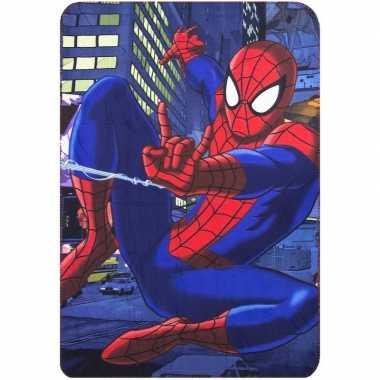 Goedkope blauwe spiderman fleece deken jongens