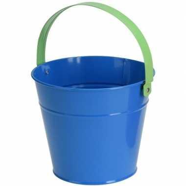 Goedkope blauwe stalen speelgoed emmer kinderen