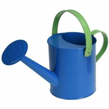 Goedkope blauwe stalen speelgoed gieter kinderen