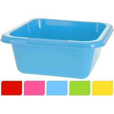 Goedkope blauwe vierkante afwasteil l