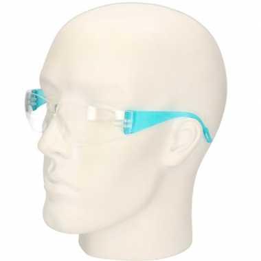 Goedkope blauwe vuurwerkbril/veiligheidsbril kinderen