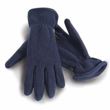 Goedkope blauwe warme fleece handschoenen volwassenen