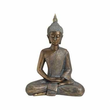 Goedkope boeddha beeld goud zittend
