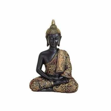 Goedkope boeddha beeld zwart/goud zittend type