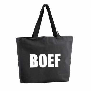 Goedkope boef shopper tas zwart