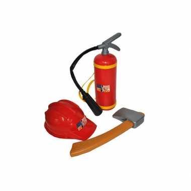 Goedkope brandweer speelgoed verkleed setje kinderen