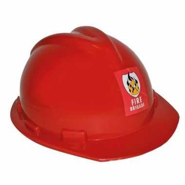 Goedkope brandweerhelm verstelbaar verkleed accessoire volwassenen