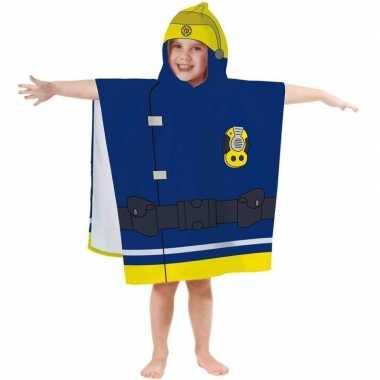 Goedkope brandweerman sam badponcho/handdoek