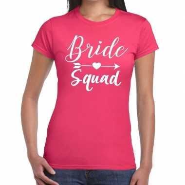 Goedkope bride squad cupido t shirt roze dames