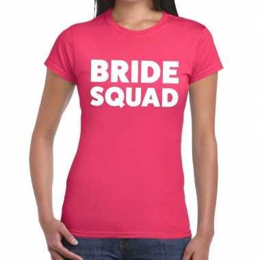Goedkope bride squad tekst t shirt roze dames
