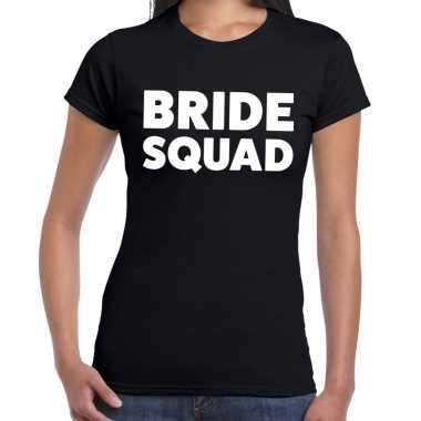 Goedkope bride squad tekst t shirt zwart dames