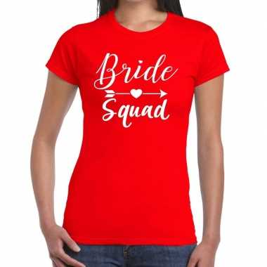 Goedkope bride to be cupido t shirt rood dames