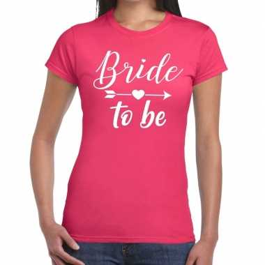 Goedkope bride to be cupido t shirt roze dames