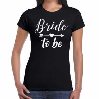 Goedkope bride to be cupido t shirt zwart dames