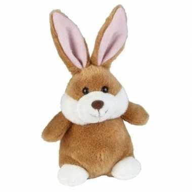Goedkope bruine pluche konijn/haas knuffel speelgoed
