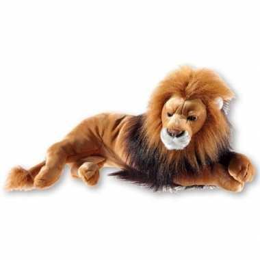 Goedkope bruine pluche liggende leeuwen knuffel