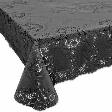 Goedkope buiten tafelkleed/tafellaken antraciet grijs