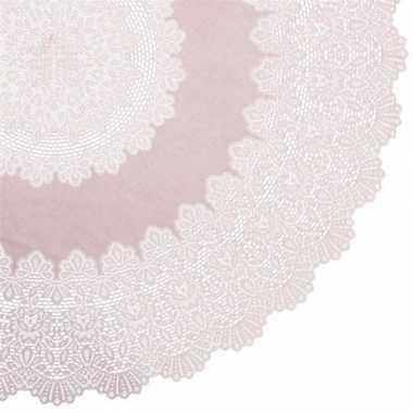 Goedkope buiten tafelkleed/tafellaken oud roze amira rond