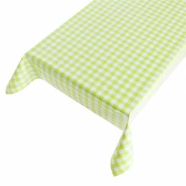 Goedkope buiten tafelkleed/tafelzeil groene ruit