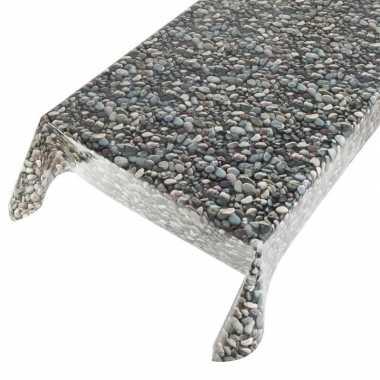 Goedkope buiten tafelkleed/tafelzeil stenen motief