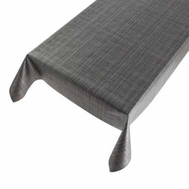Goedkope buiten tafelkleed/tafelzeil tweed antraciet
