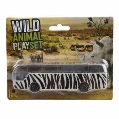Bus safari speelgoedauto zebra goedkope