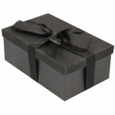 Goedkope cadeau gift box set zwart glitter zwart lint