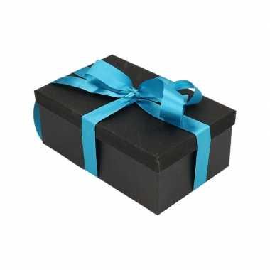 Goedkope cadeau gift box zwart turquoise blauw kadolint