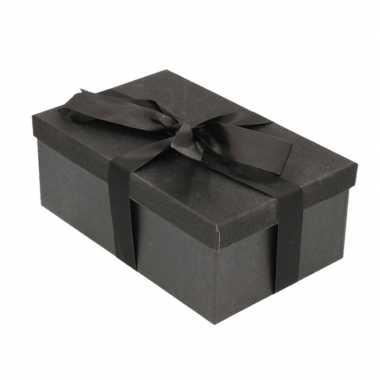 Goedkope cadeau gift box zwart zwart cadeaulint