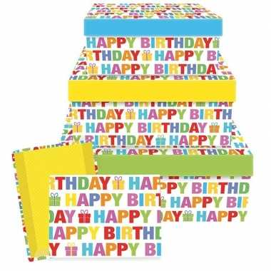 Goedkope cadeaudoosje happy birthday ,
