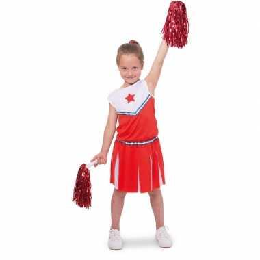 Goedkope cheerleader pakje verkleed kostuum meisjes