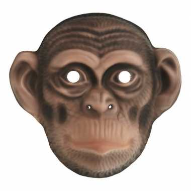 Goedkope chimpansee verkleed apen dierenmasker kinderen