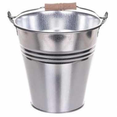 Goedkope chroom metalen emmer liter