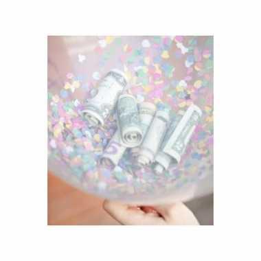 Goedkope confetti vulset hartjes ballonnen 10087751