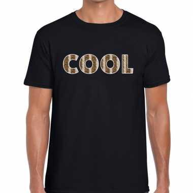 Cool tekst t shirt zwart heren slangengoedkope