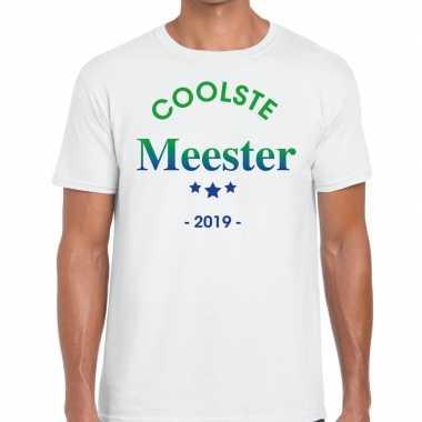 Goedkope coolste meester cadeau t shirt wit heren