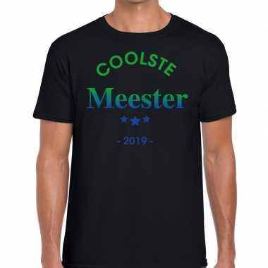 Goedkope coolste meester cadeau t shirt zwart heren