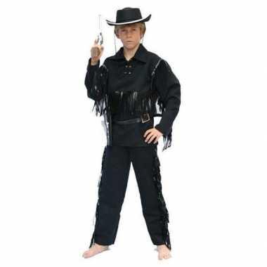 Goedkope cowboy kostuum zwart kinderen