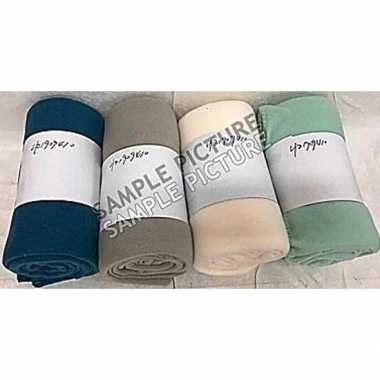 Goedkope creme witte fleece deken/kleed