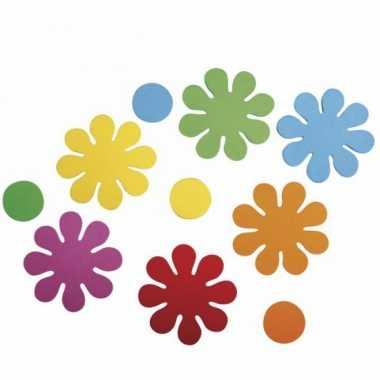 Goedkope crepla ponsdeeltjes bloemen zelfklevend stuks