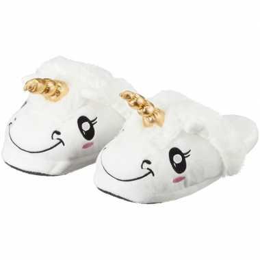 Goedkope dames dieren pantoffels/sloffen eenhoorn slippers